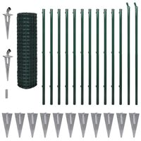 vidaXL Συρματόπλεγμα Πράσινο 25 x 1,7 μ. Ατσάλινο