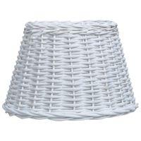 vidaXL Καπέλο Φωτιστικού Λευκό 45 x 28 εκ. από Wicker