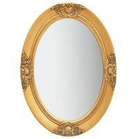 vidaXL Καθρέφτης Τοίχου με Μπαρόκ Στιλ Χρυσός 50 x 70 εκ.