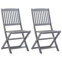 vidaXL Καρέκλες Κήπου Πτυσσόμενες 2 τεμ. από Μασίφ Ξύλο Ακακίας