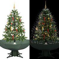 vidaXL Χριστουγεννιάτικο Δέντρο που Χιονίζει Πράσινο 140 εκ. με Βάση