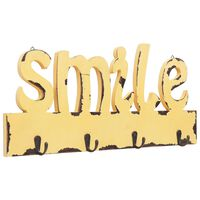 vidaXL Κρεμάστρα Τοίχου «SMILE» 50 x 23 εκ.