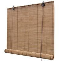 Brown Bamboo Roller Blinds 120 x 220 cm