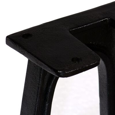 vidaXL Πόδια Πάγκου σε Σχήμα «A» με Αψιδωτή Βάση 2 τεμ. Χυτοσίδηρος