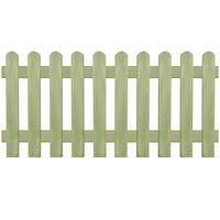 vidaXL Φράχτης Κήπου 170 x 80 εκ. 6/9 εκ. από Εμποτισμένο Ξύλο Πεύκου