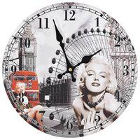 vidaXL Ρολόι Τοίχου Vintage Marilyn Monroe 30 εκ.