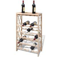 vidaXL Κάβα / Ραφιέρα Κρασιών για 25 Μπουκάλια από Μασίφ Ξύλο Ελάτης