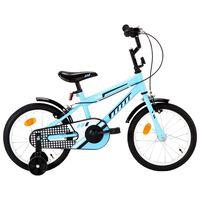 vidaXL Ποδήλατο Παιδικό Μαύρο / Μπλε 16 Ιντσών