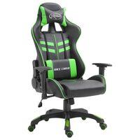 vidaXL Καρέκλα Gaming Πράσινη από Συνθετικό Δέρμα