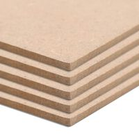 vidaXL Φύλλα MDF 10 τεμ. Ορθογώνια 120 x 60 εκ. 2,5 χιλ.