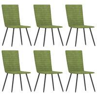 vidaXL Καρέκλες Τραπεζαρίας 6 τεμ. Πράσινες Βελούδινες