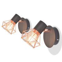 vidaXL Απλίκες Τοίχου 2 τεμ. με 2 Λαμπτήρες LED Filament 8 W