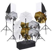 vidaXL Κιτ Φωτογραφικού Στούντιο με Σετ Φωτισμού και Softbox