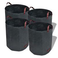 Τσάντα Απορριμμάτων Κήπου 4 τεμ. Σκούρο Πράσινο 272 Λίτρα 150 γρ. / μ²