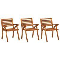 vidaXL Καρέκλες Κήπου 3 τεμ. από Μασίφ Ξύλο Ακακίας