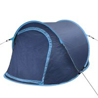 Σκηνή Camping Pop-up 2 Ατόμων Ναυτικό Μπλε / Γαλάζια