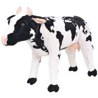 vidaXL Παιχνίδι Αγελάδα σε Όρθια Στάση Ασπρόμαυρο XXL Λούτρινο