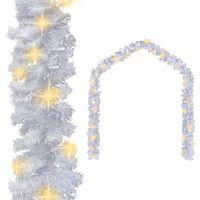 vidaXL Γιρλάντα Χριστουγεννιάτικη Λευκή 20 μ. με Λαμπάκια LED
