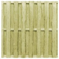 vidaXL Πάνελ Περίφραξης Πράσινο 180 x 180 εκ. Εμποτισμένο Ξύλο Πεύκου