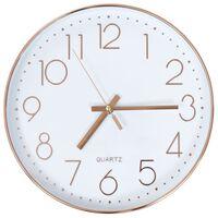 vidaXL Ρολόι Τοίχου Ροζ Χρυσό 30 εκ.