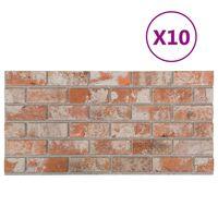 vidaXL Πάνελ Τοίχου 3D 10 τεμ. Σχέδιο Τούβλα Κόκκινο EPS