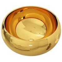 vidaXL Νιπτήρας Χρυσός 40 x 15 εκ. Κεραμικός