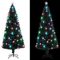 vidaXL Χριστουγεννιάτικο Δέντρο Τεχνητό 280 Κλαδιά 210 εκ. με Βάση/LED