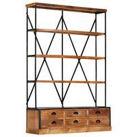 vidaXL Βιβλιοθήκη με 4 Επίπεδα/6 Συρτάρια 122x36x181 εκ. Ξύλο Μάνγκο