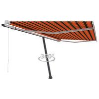 vidaXL Τέντα Αυτόματη Ανεξάρτητη Πορτοκαλί/Καφέ 450 x 300 εκ.