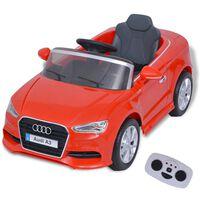 vidaXL Αυτοκίνητο Ηλεκτροκίνητο Audi A3 με Τηλεχειριστήριο Κόκκινο