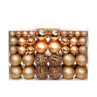vidaXL Σετ Μπάλες Χριστουγεννιάτικες 100 τεμ. Ροζ/Χρυσές 6 εκ.