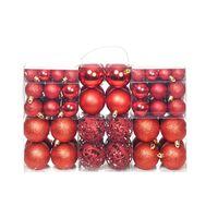 vidaXL Σετ Μπάλες Χριστουγεννιάτικες 100 τεμ. Κόκκινες 6 εκ.