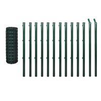 vidaXL Συρματόπλεγμα Σετ Πράσινο 25 x 0,8 μ. Ατσάλινο