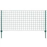 vidaXL Συρματόπλεγμα Σετ Πράσινο 20 x 1 μ. Ατσάλινο
