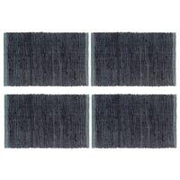 vidaXL Σουπλά Chindi Απλά 4 τεμ. Ανθρακί 30 x 45 εκ. Βαμβακερά