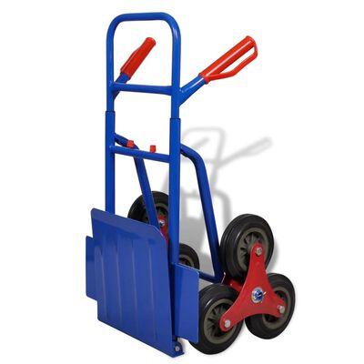 vidaXL Καρότσι Μεταφοράς για Σκαλοπάτια Πτυσσόμενο Εξάτροχο Μπλε