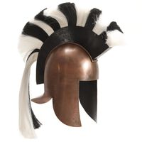vidaXL Κράνος Πολεμιστή Αρχαιοελληνικό Ρέπλικα Αντικέ Χρώμα Χαλκού