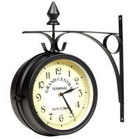 vidaXL Ρολόι Τοίχου Διπλής Όψης 20 εκ.