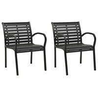 vidaXL Καρέκλες Κήπου 2 τεμ. Γκρι από Ξύλο