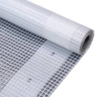 vidaXL Μουσαμάς με Ύφανση Leno Λευκός 4 x 6 μ. 260 γρ./μ²