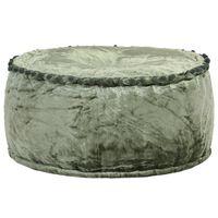 vidaXL Πουφ Στρογγυλό Πράσινο 40 x 20 εκ. Βελούδινο