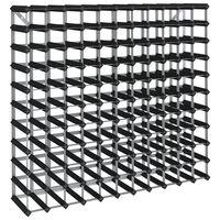 vidaXL Ραφιέρα/Σταντ Κρασιών για 120 Φιάλες Μαύρη Μασίφ Ξύλο Πεύκου