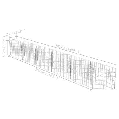 vidaXL Συρματοκιβώτιο 300 x 30 x 50 εκ. από Γαλβανισμένο Χάλυβα
