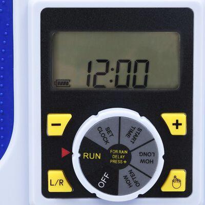 vidaXL Προγραμματιστής Ποτίσματος Ηλεκτρ. 2 Εξόδων & Λειτ. Καθ. Βροχής
