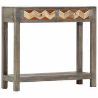 vidaXL Τραπέζι Κονσόλα 86 x 30 x 76 εκ. από Μασίφ Ξύλο Μάνγκο