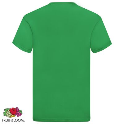Fruit of the Loom T-shirt Original 5 τεμ. Πράσινα M Βαμβακερά