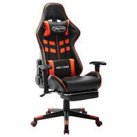 vidaXL Καρέκλα Gaming με Υποπόδιο Μαύρο/Πορτοκαλί από Συνθετικό Δέρμα