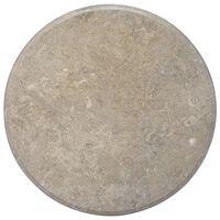 vidaXL Επιφάνεια Τραπεζιού Γκρι Ø70 x 2,5 cm Μαρμάρινη