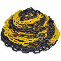 Αλυσίδα Σήμανσης Κίτρινη και Μαύρη 30 μ. Πλαστική