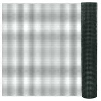vidaXL Συρματόπλεγμα Τετράγωνο Πράσινο 10x1 μ. Γαλβανιζέ Επικάλυψη PVC